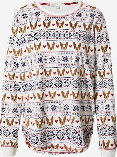 PJ Salvage Shirt in navy / braun / rot / weiß, Produktansicht