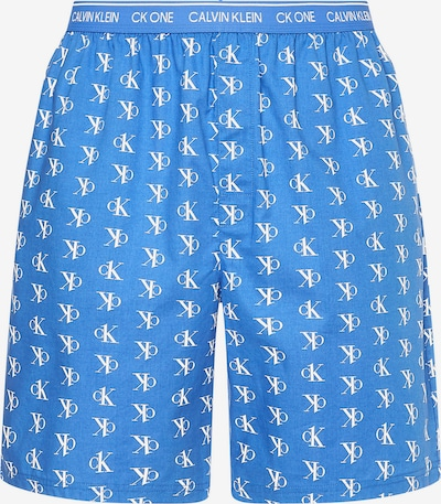 Calvin Klein Underwear Pyjamahousut värissä kuninkaallisen sininen / valkoinen, Tuotenäkymä