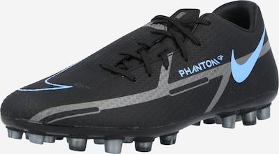 NIKE Voetbalschoen 'Phantom GT2 Academy' in de kleur Neonblauw / Rookgrijs / Zwart, Productweergave