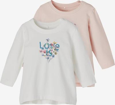 NAME IT Shirt 'Tora' in blau / mischfarben / puder / naturweiß, Produktansicht