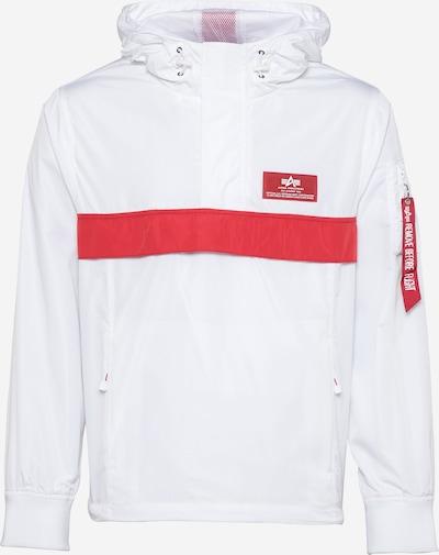 ALPHA INDUSTRIES Veste mi-saison en rouge / blanc, Vue avec produit