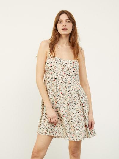 Aligne Kleid 'Daisy' in grün / hellorange / rot / naturweiß, Modelansicht