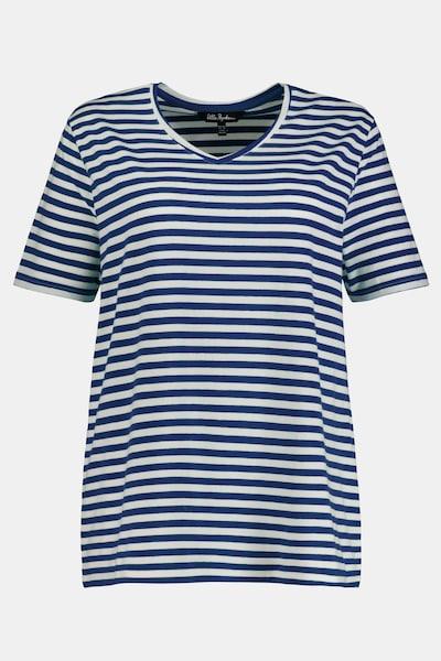 Ulla Popken Ringelshirt in blau / weiß, Produktansicht