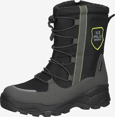 Bama Stiefel in gelb / dunkelgrau / schwarz, Produktansicht