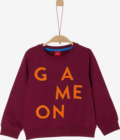 s.Oliver Sweatshirt in orange / bordeaux, Produktansicht