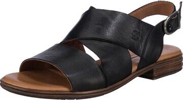 Paul Vesterbro Leder Klassische Sandalen in Schwarz