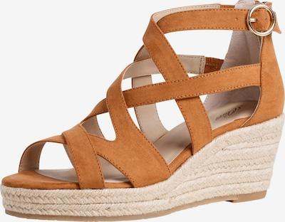 Sandale cu baretă s.Oliver pe maro coniac, Vizualizare produs