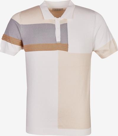Leif Nelson Shirt in beige / hellbraun / weiß, Produktansicht