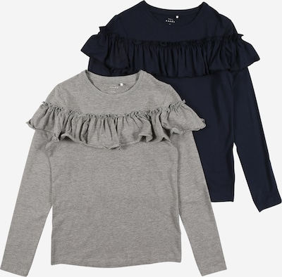 NAME IT Shirt 'VALDA' in navy / graumeliert, Produktansicht