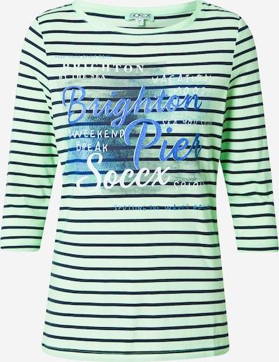 Soccx Shirt in blau / grün / schwarz / weiß, Produktansicht