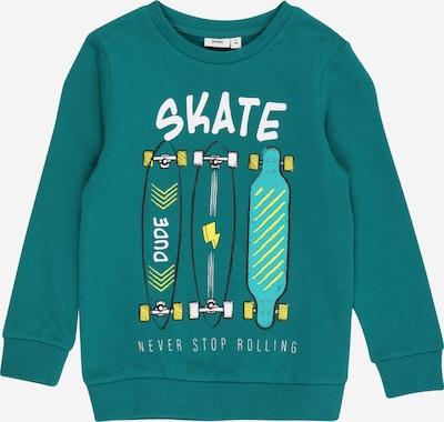 Guppy Sweatshirt 'DALE' in gelb / mint / jade / schwarz / weiß, Produktansicht