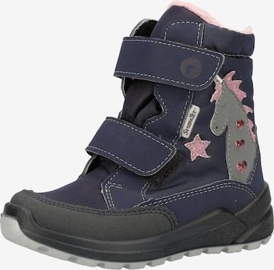 RICOSTA Snowboots 'ANNIKA' in de kleur Donkerblauw / Grijs / Rosa / Pastelrood, Productweergave