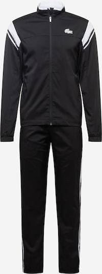 Lacoste Sport Trainingsanzug in schwarz / weiß, Produktansicht