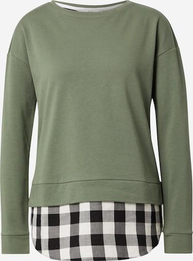 EDC BY ESPRIT Shirts in khaki / schwarz / weiß, Produktansicht