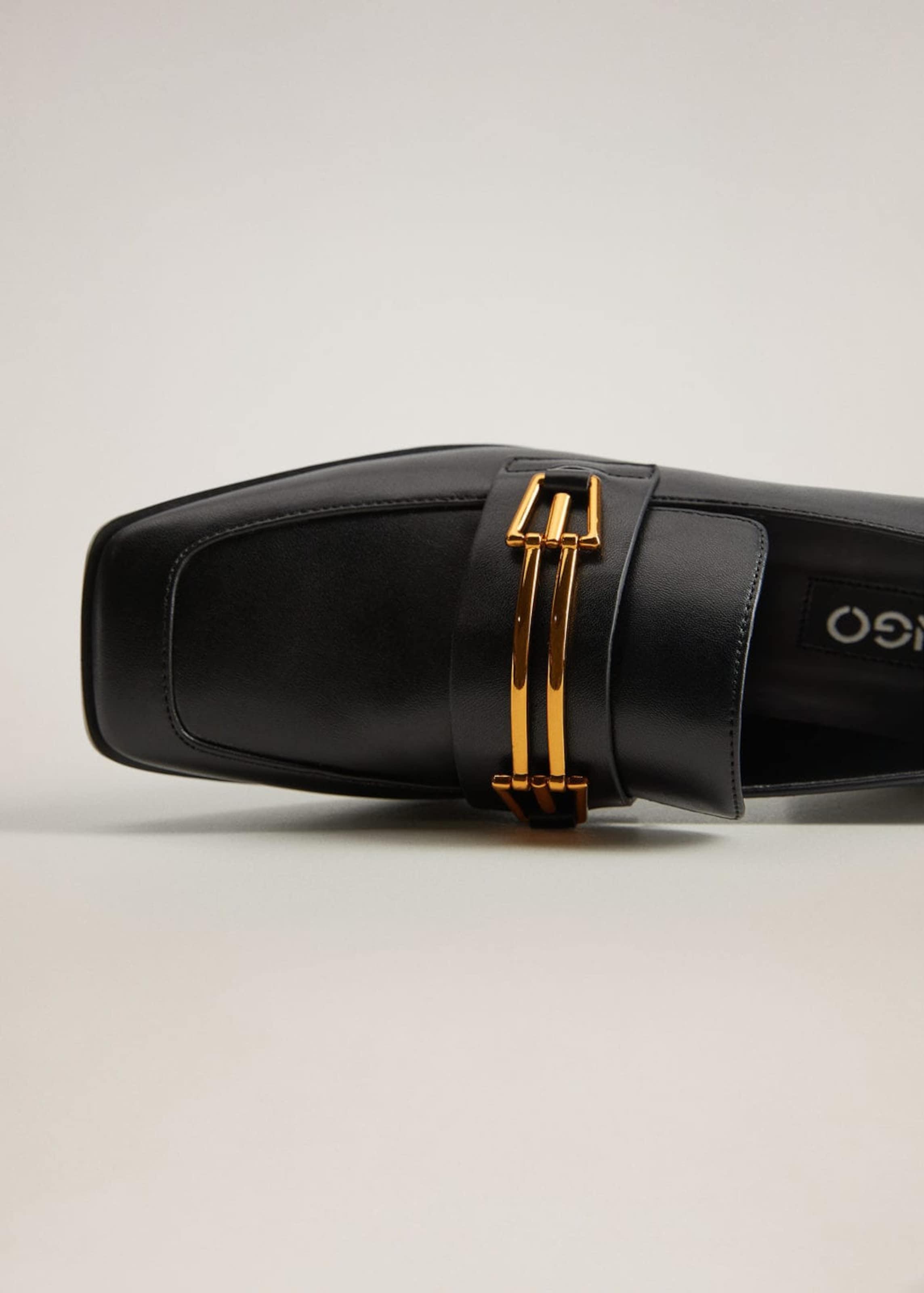 MANGO Schuh 'antique' in schwarz
