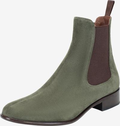 Ekonika Chelsea-Boots in dunkelgrün / schwarz, Produktansicht