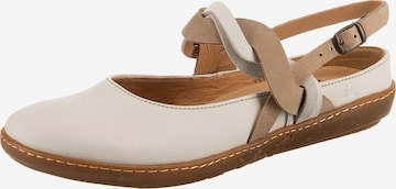 EL NATURALISTA Ballet Flats with Strap in White