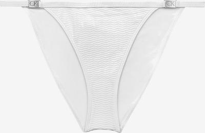 Calvin Klein Swimwear Bas de bikini en argent / blanc, Vue avec produit