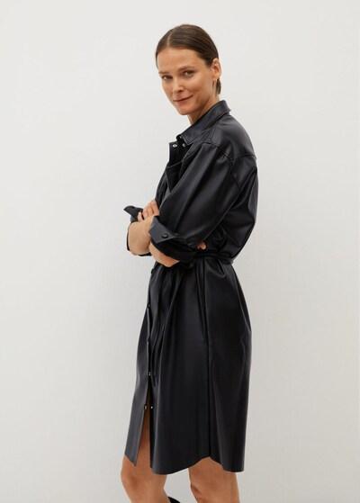 MANGO Kleid 'brown' in schwarz, Modelansicht