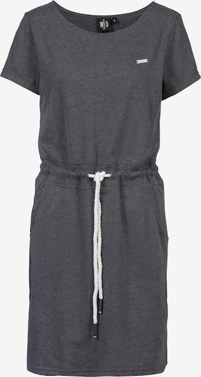 WLD Kleid 'Living for the night' in graumeliert / weiß, Produktansicht