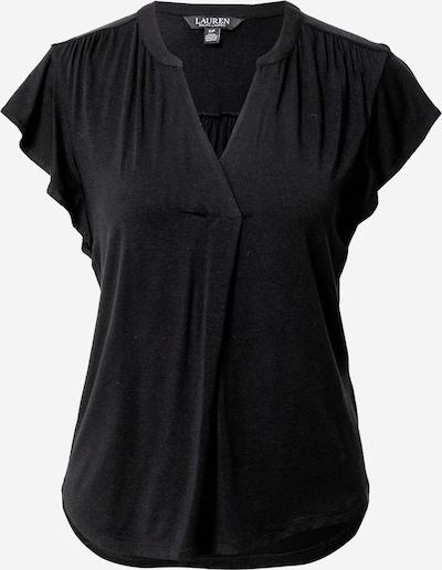 Tricou 'HAJI' Lauren Ralph Lauren pe negru: Privire frontală