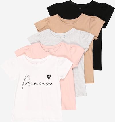 River Island Shirt in hellbeige / mischfarben / rosa / schwarz / weiß, Produktansicht