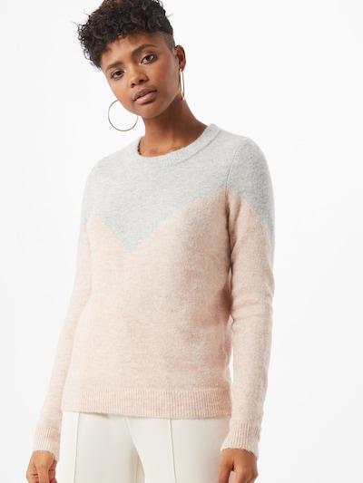 Megztinis iš VERO MODA , spalva - šviesiai pilka / ryškiai rožinė spalva, Modelio vaizdas