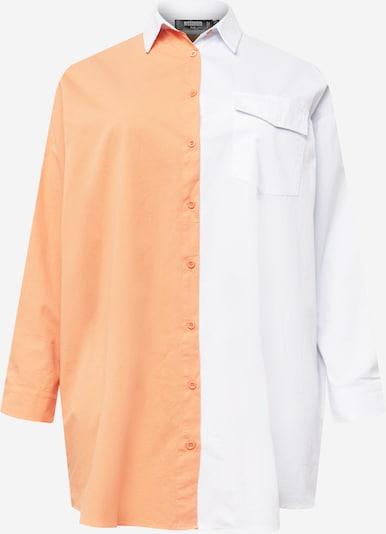 Missguided Plus Robe-chemise en orange / blanc, Vue avec produit
