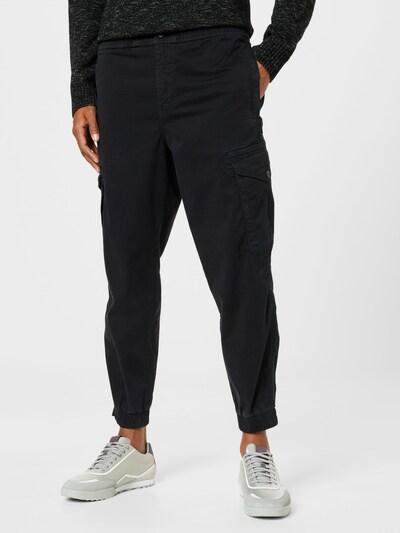 BOSS Casual Hose 'Seiland' in schwarz, Modelansicht