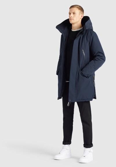 khujo Winterjas ' DANCER ' in de kleur Blauw, Modelweergave