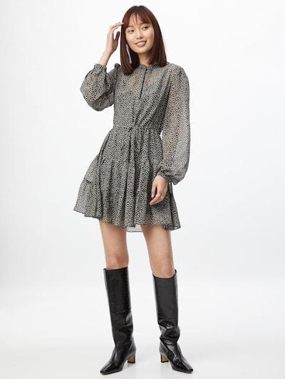 Rochie tip bluză 'DRAWCORD' Forever New pe maro deschis / gri / negru / alb, Vizualizare model