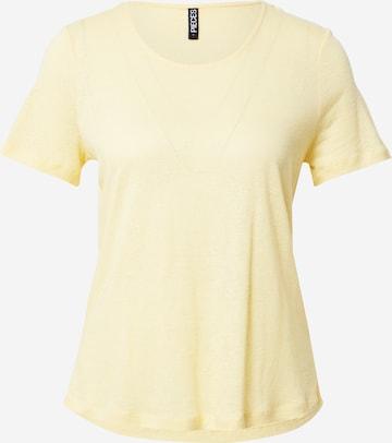 T-shirt 'PHOEBE' PIECES en jaune