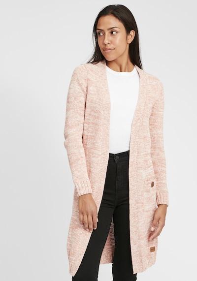 Oxmo Strickjacke Philetta in pink / rosa / rosé / altrosa, Modelansicht