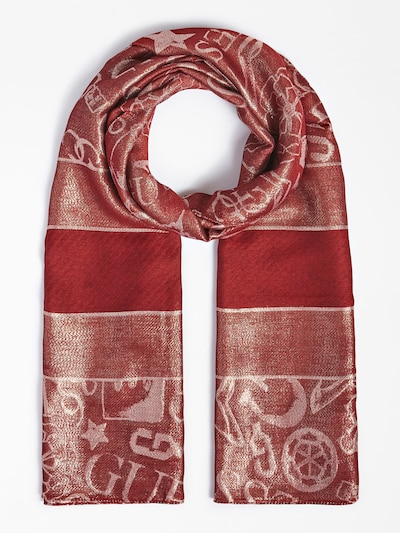 GUESS Scarf in Gold / Red, Item view