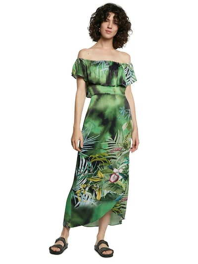 Rochie 'VEST TUCSON' Desigual pe albastru închis / galben / verde / kaki / verde smarald, Vizualizare model
