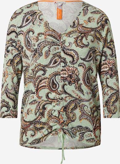 STREET ONE Shirt in de kleur Bruin / Grijs / Groen, Productweergave