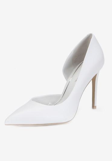 Ekonika Elegante Pumps aus weichem Leder in weiß: Frontalansicht