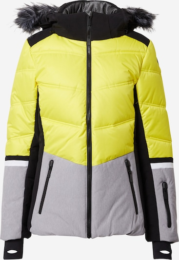 ICEPEAK Outdoor jacket 'Electra' in Yellow / Grey mottled / Black, Item view