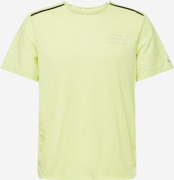 T-Shirt fonctionnel 'Rise 365' NIKE en jaune