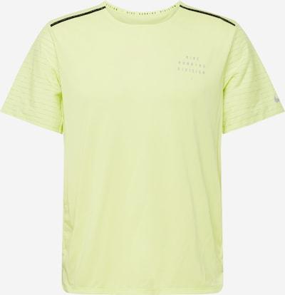 NIKE Sportshirt 'Rise 365' in zitrone / schwarz, Produktansicht
