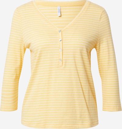 ONLY Shirts 'MARY' i gul / hvid, Produktvisning