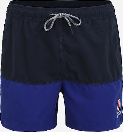 Superdry Kupaće hlače u plava / morsko plava / crvena / bijela, Pregled proizvoda