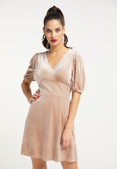 faina Kleid in champagner, Modelansicht