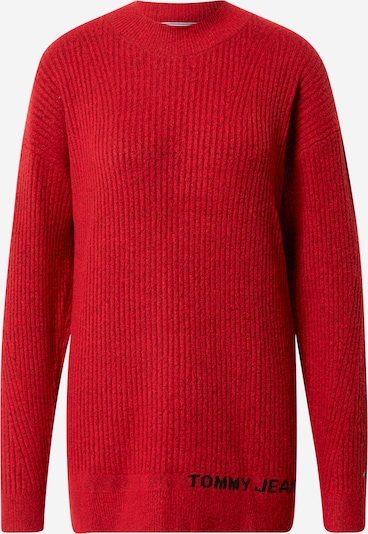Tommy Jeans Džemperis, krāsa - sarkans, Preces skats