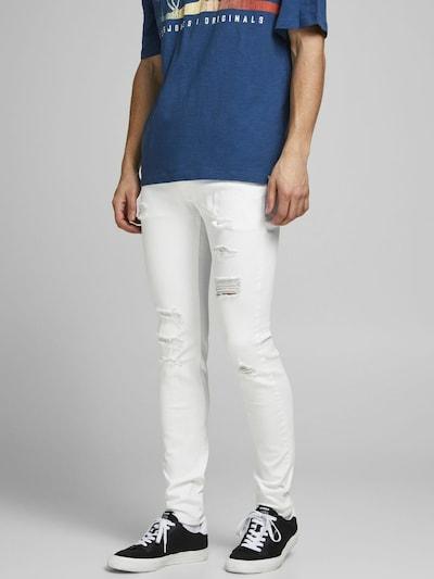 JACK & JONES Jeans 'Liam' in hellbraun / weiß, Modelansicht