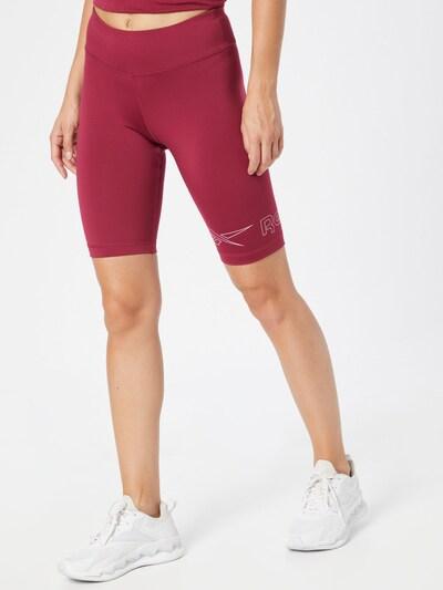 Reebok Sport Shorts in bordeaux / weiß, Modelansicht
