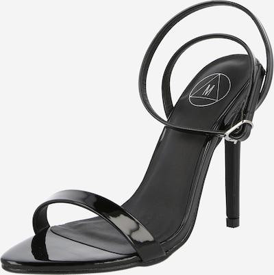 Missguided Sandali s paščki | črna barva, Prikaz izdelka