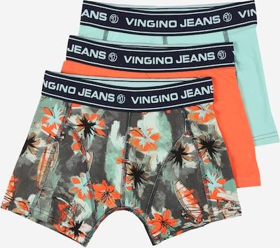 VINGINO Onderbroek in de kleur Grijs / Mintgroen / Sinaasappel / Zwart, Productweergave