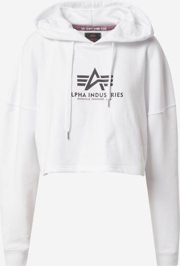 ALPHA INDUSTRIES Sweatshirt in schwarz / weiß, Produktansicht