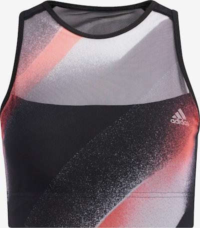 ADIDAS PERFORMANCE Sport BH in blutrot / schwarz / weiß, Produktansicht